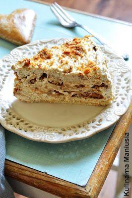 Uwielbiam toruńskie pierniki i uwielbiam ciasta z kremem. Pomyślałam sobie, że połączę tą miłość w jedną całość i tak powstało to ...