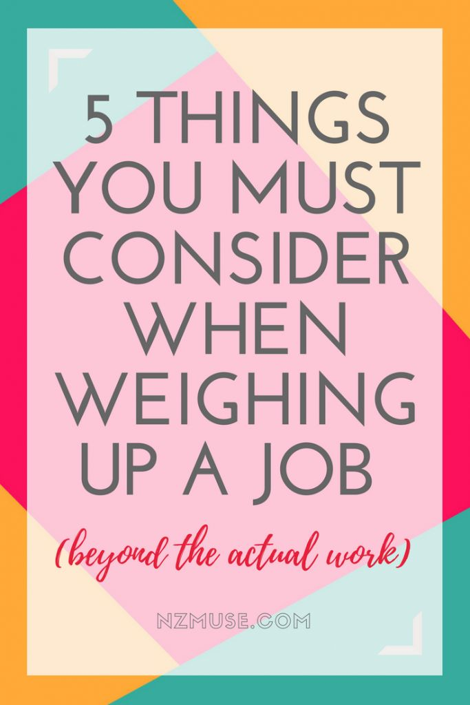 Want to change jobs or careers? Here are 5 factors to consider that will help you decide if you're making the right choice.