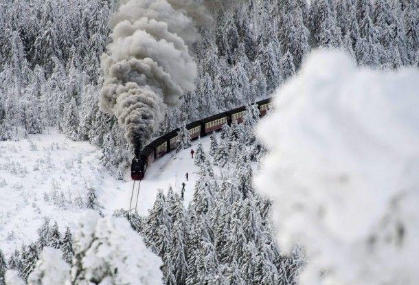 December  winter in Wernigerode Germany x #winter #december #wernigerode #germany