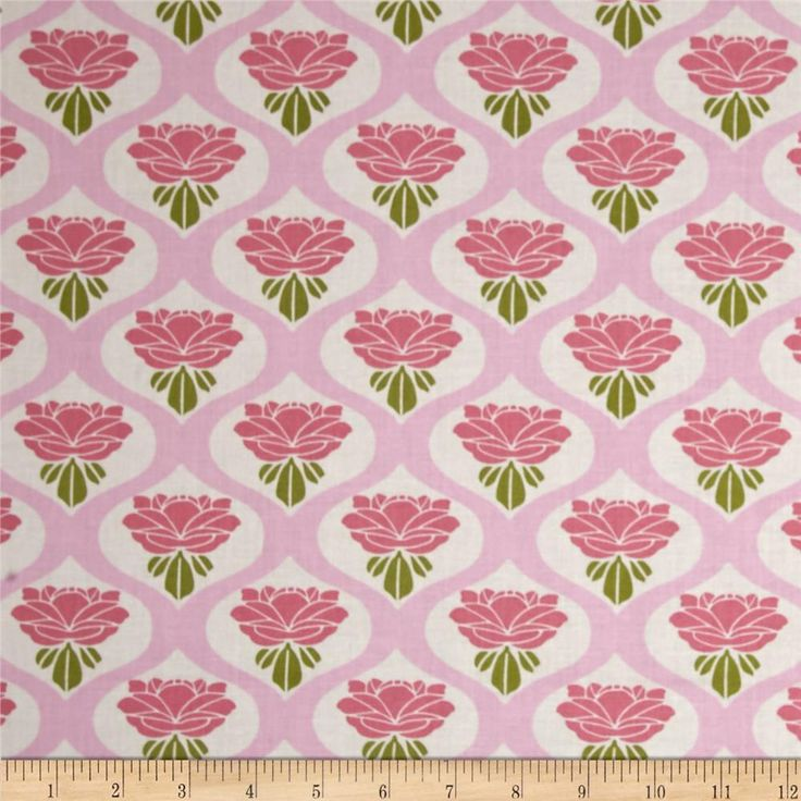Tanya Whelan Chloe Rose Pink from @fabricdotcom  Designed by Tanya Whelan for Free Spirit, this cotton print is perfect for quilting, apparel and home decor accents. Colors include shades of pink, green and white.