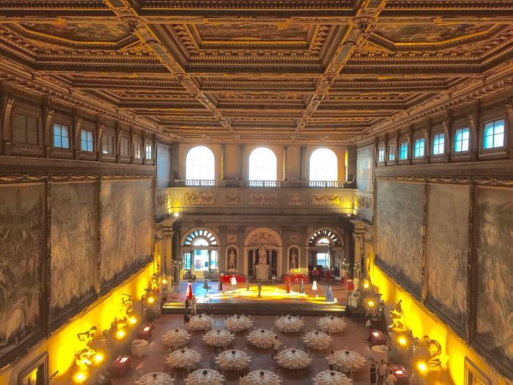 Salone Cinquecento Palazzo Vecchio 40 Aniversary celebration for Linea Piu Pitti Filati Fashion week. All Rights Reserved GUIDI LENCI www.guidilenci.com