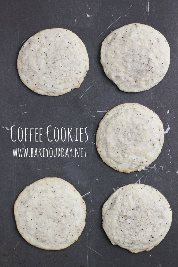 Sweet and simple and studded with tons of coffee flavor: Coffee Cookies!