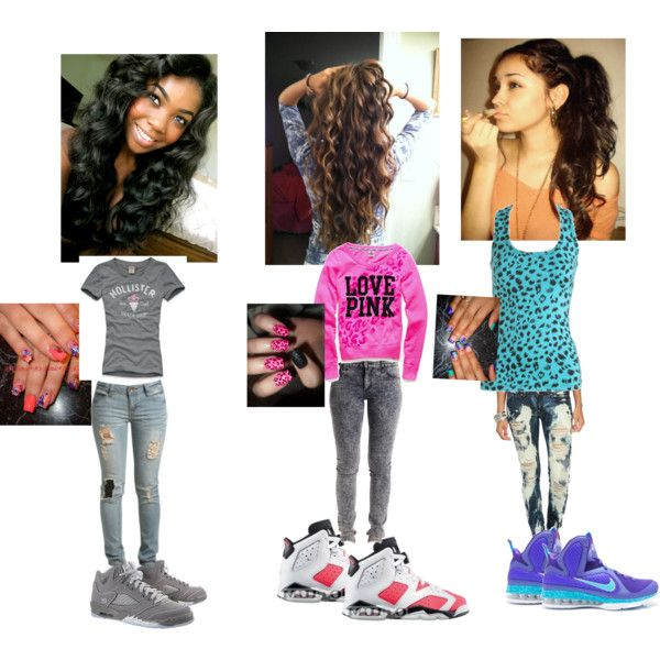 Polyvore outfits for teenage girls with jordans - Google Search | My Favorite Shoes With Outfit ...