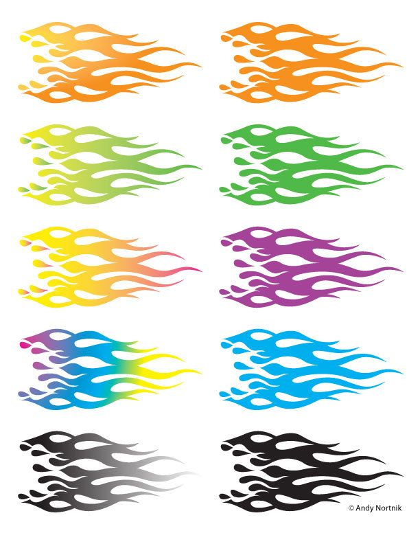 Flames Clip Art Flames Clipart Personal and Commercial Use by steampunkartist1 on Etsy