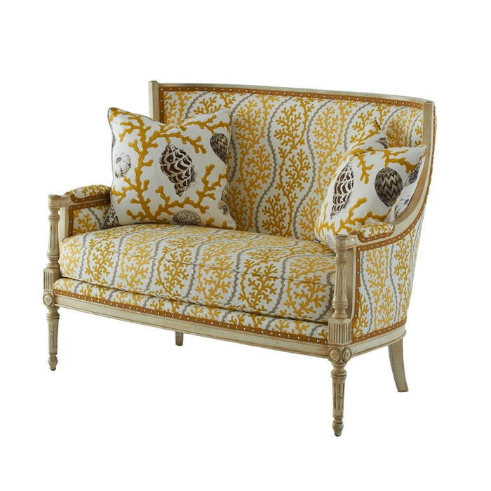 Massoud Splendor Settee in Citron
