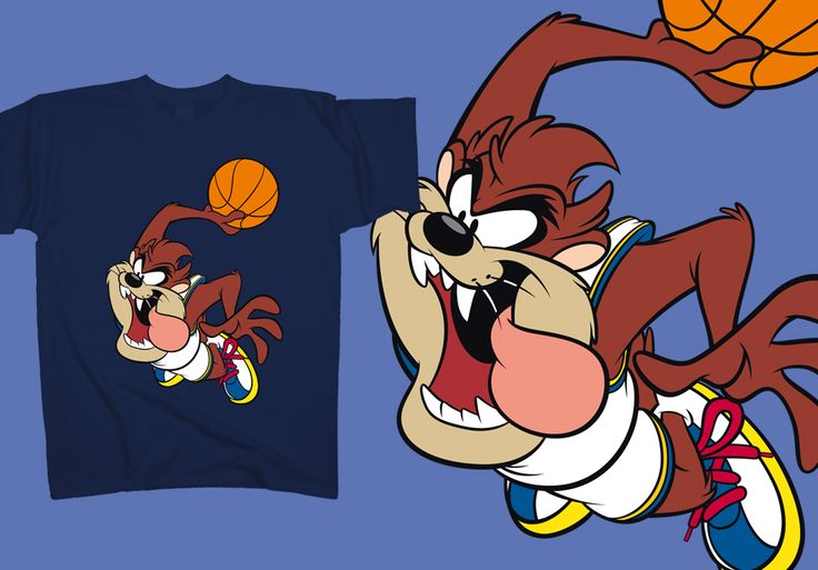 """Air"" #Jordan was ok, but wait till you see ""Air"" #Taz perform his slam dunk! We got a new boss in town: http://www.toonshirts.com/products/looney-tunes/133-air-taz"