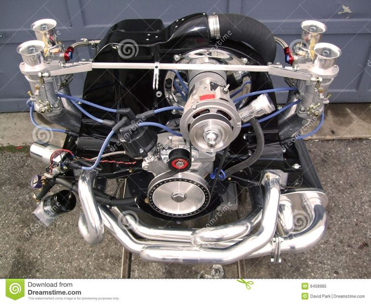 This is a picture of a VW Beetle high performance engine, 2332cc with 51mm dula carbs.
