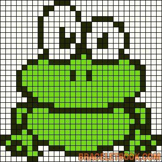 EMBROIDERY – CROSS-STITCH / BORDERIE / BORDUURWERK – FROG / GRENOUILLE / KIKKER - Frog perler bead pattern