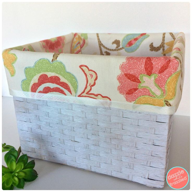 How to Make No Sew Basket Liners | DIYIdeaCenter.com