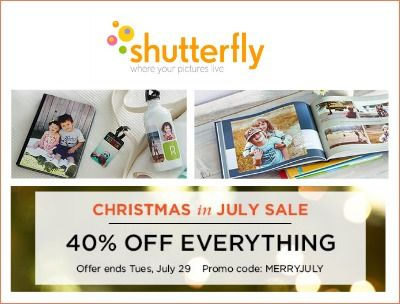 Shutterfly coupon from target