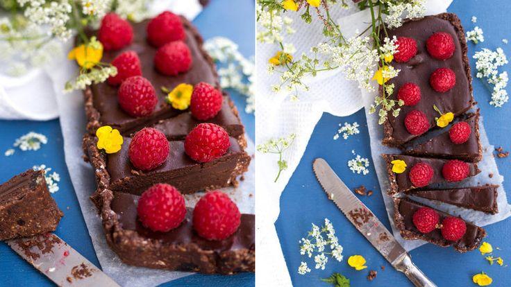 Rå sjokoladepai