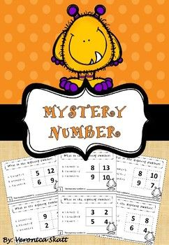 In these task cards the students have to answer three calculations in order to figure out what the mystery number is, by process of elimination.