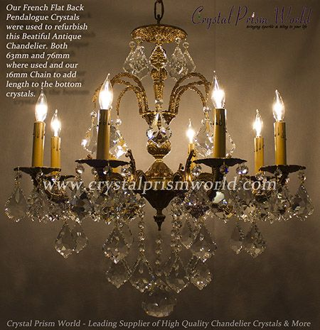 Grand Vintage French Brass Crystal Chandelier Clear Quality Crystals Old - 12 Best Antique French Brass Chandeliers Images On Pinterest