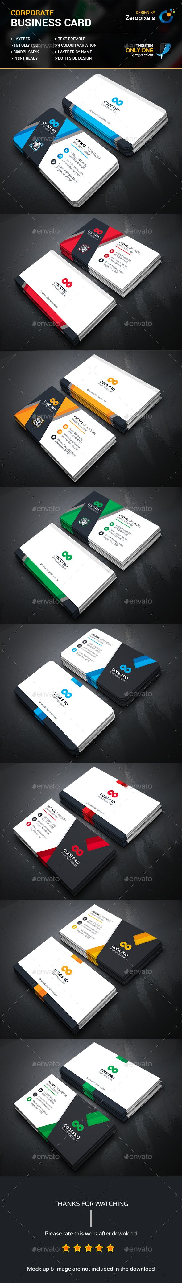 Business Card Templates PSD Bundle. Download here: https://graphicriver.net/item/business-card-bundle/17168001?ref=ksioks