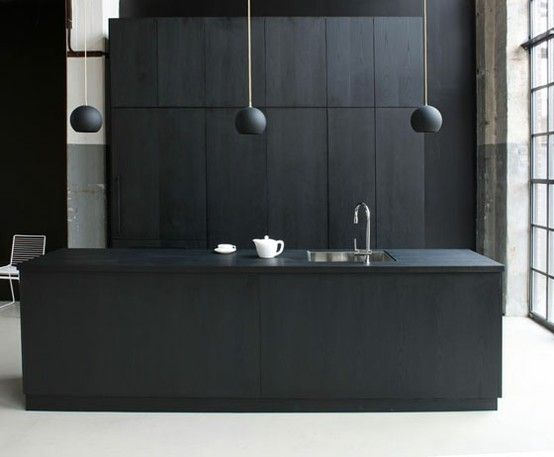 I have a feeling a sleek NEW black kitchen is a far cry from a grotty OLD black kitchen.  Sad.    The Minimalist x Black Kitchen