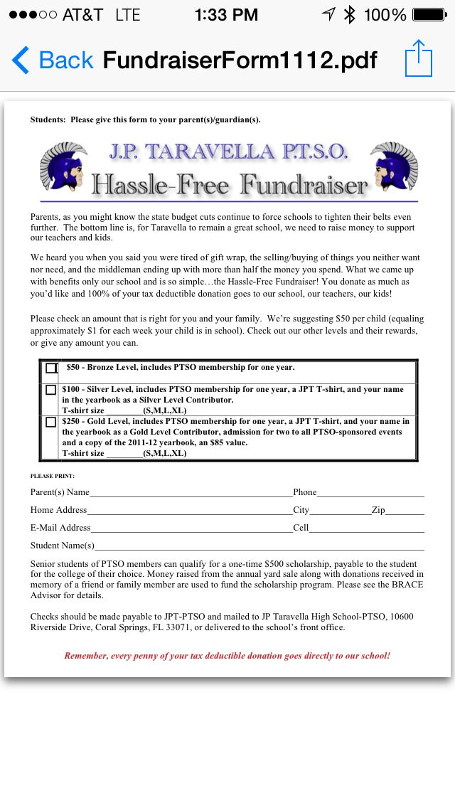 hassle free fundraiser