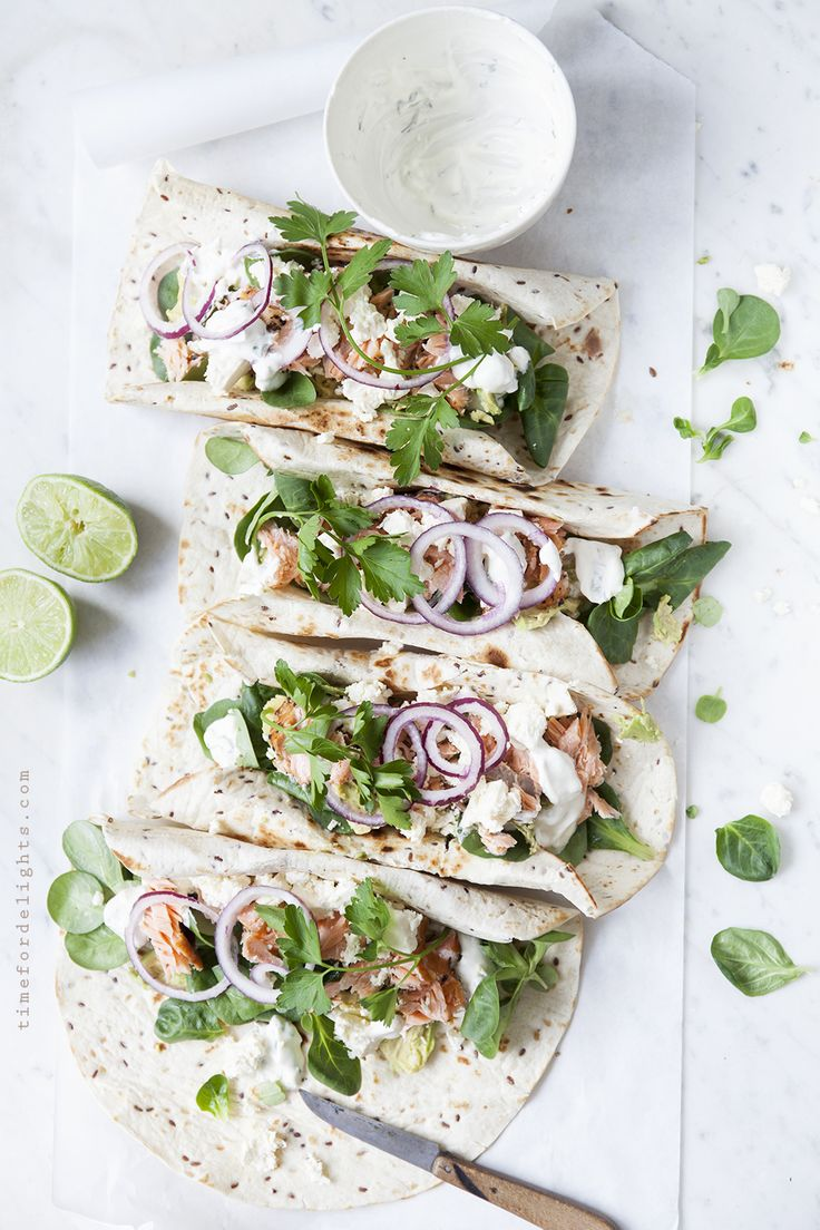 ... salmon lime wraps ...