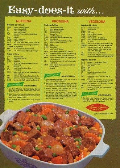 52 best loma linda foods images on pinterest loma linda healthy worthington loma linda ad featuring a corningware dish like the ones mom had forumfinder Image collections