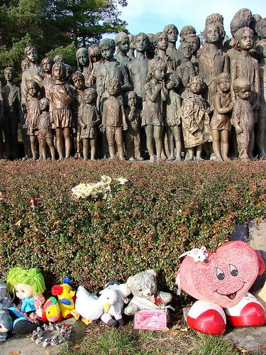 Lidice Memorial - Memorial to Child Victims of War - very sad.