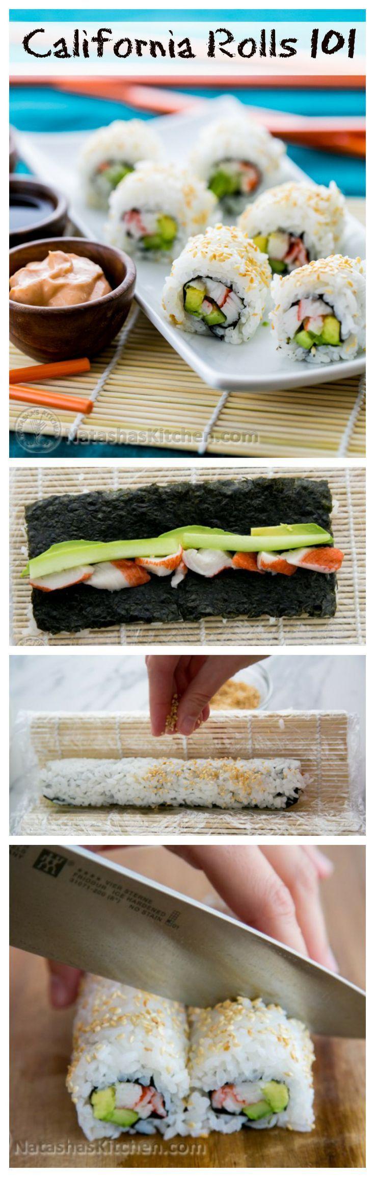 Sushi Rice and California Rolls