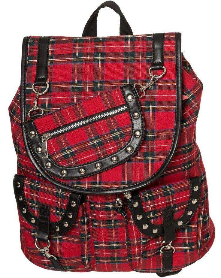 Mochila escocesa Yamy #backpacks #banned #modagotica #gothicfashion #cuadros #tartan #tiendagotica #gothicshop