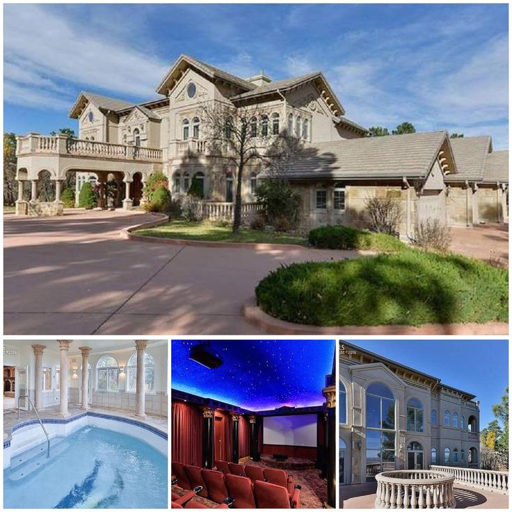 Listing Price: $2,650,000. Location: 4195 Stone Manor Heights, Colorado Springs, CO 80906.  Size: 7 beds, 11 baths, 10,790 sq ft. School District: 12-Cheyenne Mountain