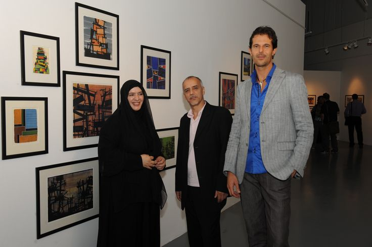 Azza Al-Qubaisi Galvin Harrison Paolo Sturiale  Opening exhibition of Sculpture To Wear . Tashkeel, Dubai.