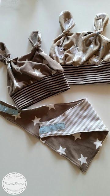 Kruemelblume: Mini-Mütz und Wende-Halstuch für die Kleinen