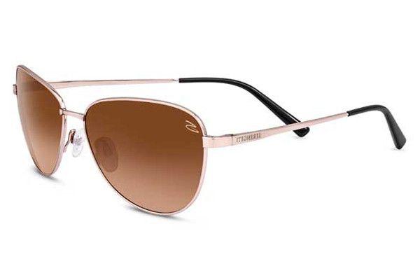 Serengeti - Gloria Shiny Rose Gold Sunglasses, Drivers Gradient Lenses