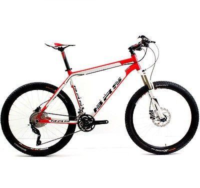 """BRS MTB Light Sport 1.3 XT rot weiss 49cm Deore RST Platinium Mountainbike 26"""""""