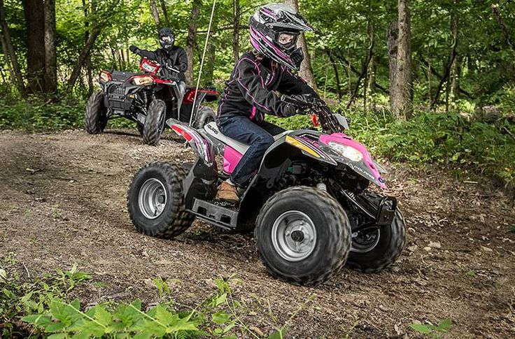 POLARIS 2017 OUTLAW 50 IN PINK LIST $2099 SALE NOW $1799 CHRISTMAS LAYAWAY AVAILABLE. #Polaris #Industries #OUTLAW50 #ATV #petescyclebaltimore