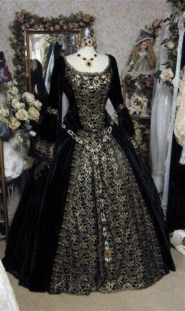 Gothic Renaissance or Medieval Fantasy Wedding Set Custom. $950.00, via Etsy.