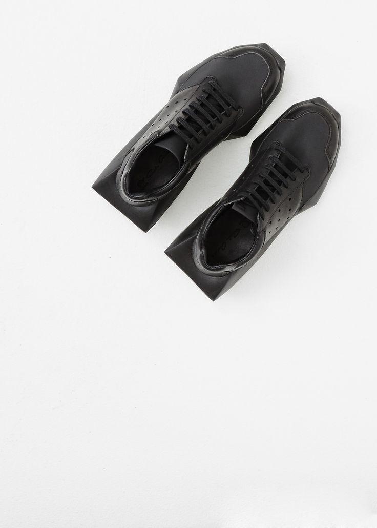 Rick Owens Rick Owens X Adidas Tech Runner (Black) = Raddest shoes on the block