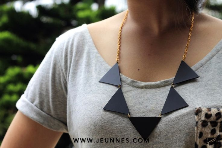 LADIES | TRIANGLE NECKLACE only 29k idr  Shop more: WWW.JEUNNES.COM
