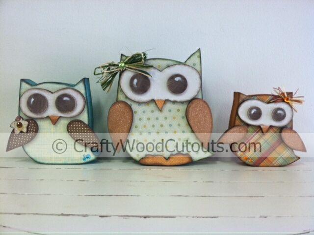 Owls Wood Craft Project - Home Decor - Crafty Wood Cutouts in Orem, Utah