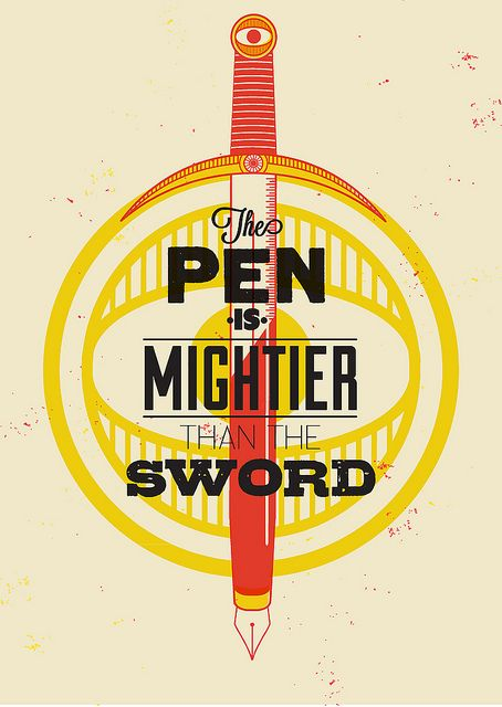 The Pen Is Mightier Than The Sword Typography Type