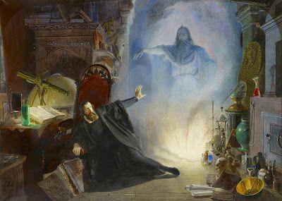Dark Classics: Edward Henry Сorbould, Scene from Goethe's Faust