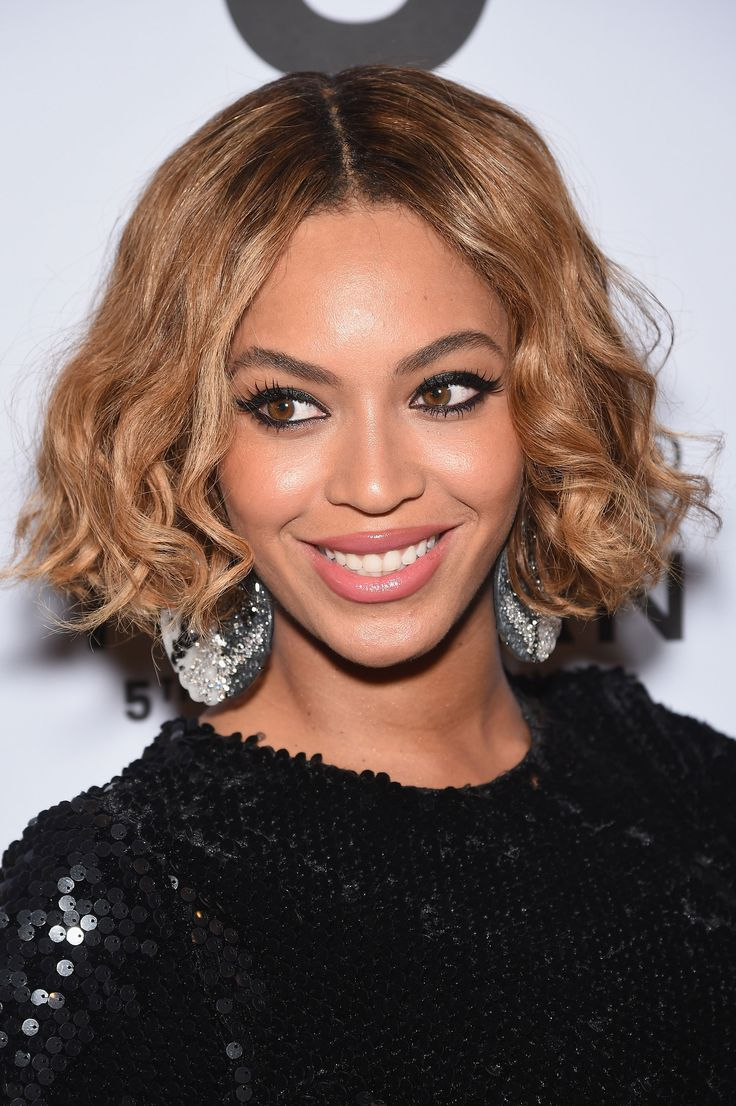 Beyonce recently showed off some short bangs, but this piecey bob is so much better. Getty Images  - Redbook.com