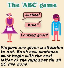The ABC game for adults