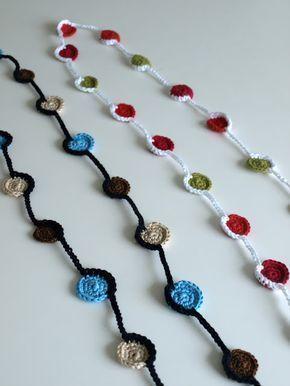Engelska villan: Virkat halsband med mönster