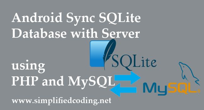 Android Sync Sqlite Database With Server Using Php And Mysql Mysql Android Android Programming