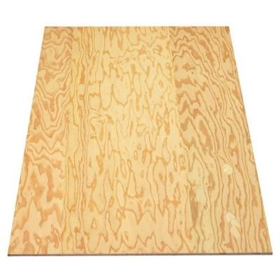Sheathing Plywood (Common: 3/8 in. x 4 ft. x 8 ft.; Actual: 0.344 in. x 48 in. x 96 in.)-19837 - The Home Depot