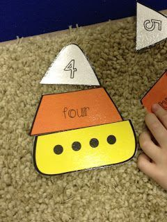 A cute halloween math matching activity!