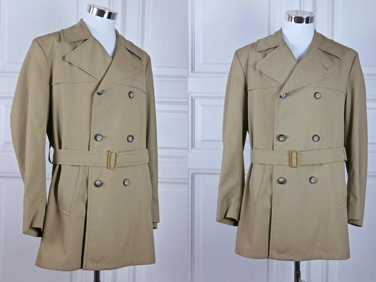 "Thanks for the kind words! ★★★★★ ""Love the jacket. Just as described... probably even better. Thank you!"" Omri S. http://etsy.me/2k8CPHq #etsy #clothing #men #jacket #europeanvintage #madmen #swissvintage #vintagetrenchcoat #shorttrenchcoat #size44trenchcoat"
