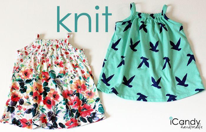 Süßes Sommertop, Spaghetti Top, Tunika, Kleid fürs Baby nähen, 6-12M - Tiny Tank Dress Knit