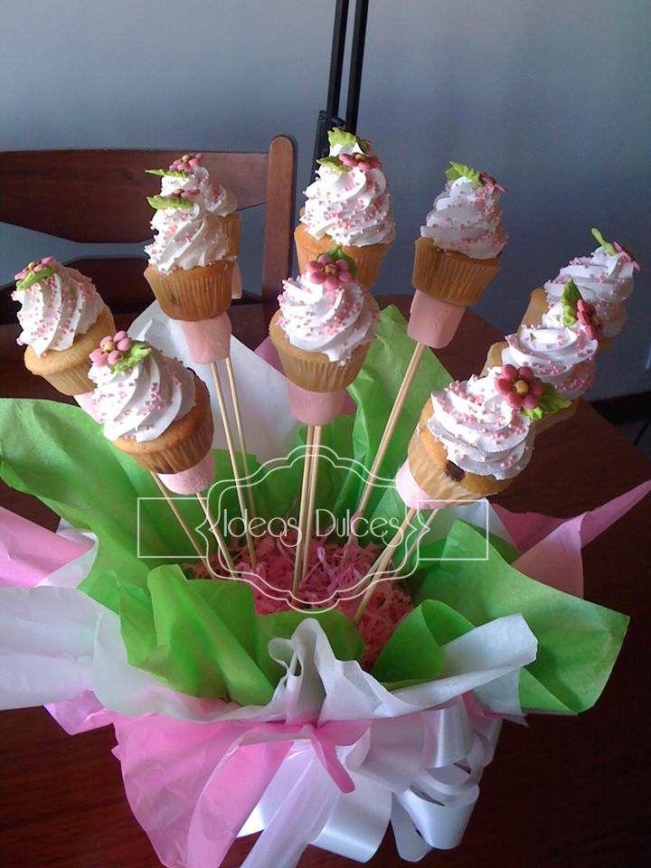 Arreglo de Mini-cupcakes para el bautizo de Ma. Antonia
