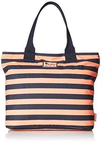 Buy Superdry Summer Time Tote Bag for Women - Coral/Navy Stripe - Handbags | KSA | Souq