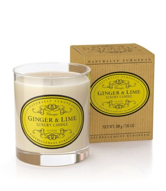 Wonderful Organic Candles - Ginger & Lime - A seriously great quality candle which burns well and perfumes the room brilliantly. Made with organic plant wax, essential oils and 100% natural ingredients, these candles are clean burning, sustainable and kind to your environment.  Ginger and lime a combined to create a warming, uplifting scent. Taking inspiration from Southern Spain Ginger & Lime creates the perfect balance of heat and freshness.  40hr burn time  200gms