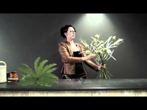 Bloemschikken met Foam Planten! - YouTube