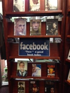 Facebook library display